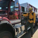 Fire hand crew member at Camp Roberts