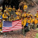 CSG hand crew on fire lines
